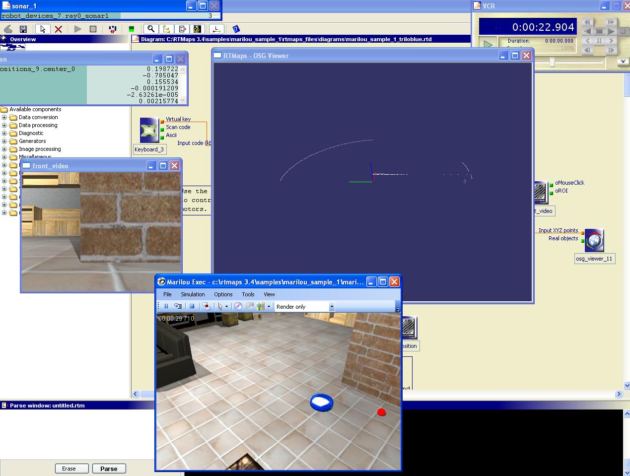 Intempora - 6 - Using anyKode Marilou simulation engine with RTMaps